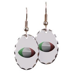 Italian Football Oval Earrings