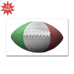Italian Football rectangle Decal 10 Pack