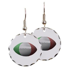 Italian Football Round Earrings