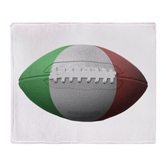 Italian Football Throw Blanket