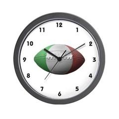 Italian Football Wall Clock