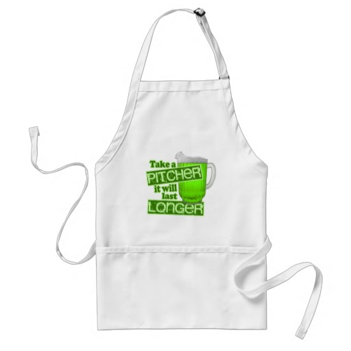 Funny St. Patrick's Day Green Beer Adult Apron