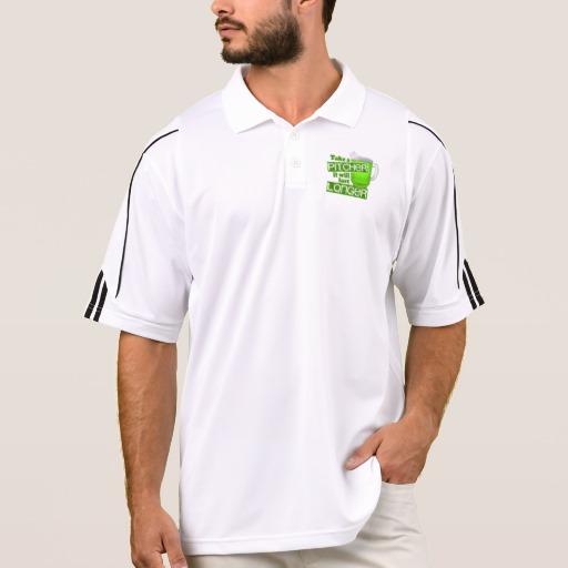 Take a Pitcher It will last Longer Men's Adidas Golf ClimaLite® Polo Shirt