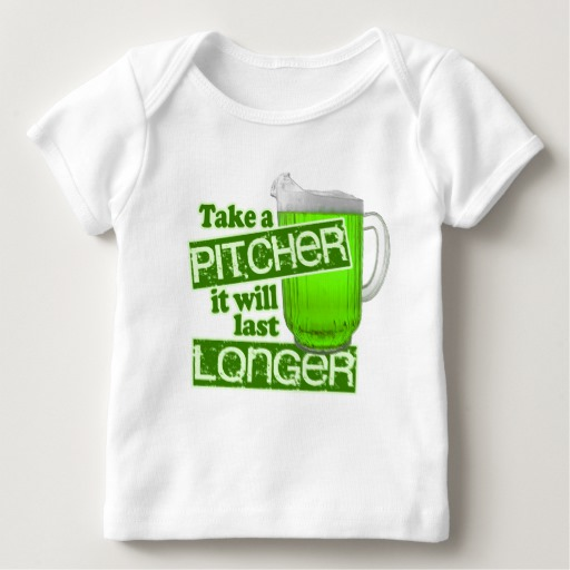 Take a Pitcher It will last Longer Baby American Apparel Lap T-Shirt