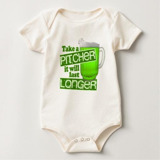 Take a Pitcher It will last Longer Baby American Apparel Organic Bodysuit