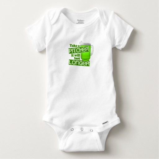 Take a Pitcher It will last Longer Baby Gerber Cotton Onesie