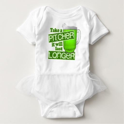 Take a Pitcher It will last Longer Baby Tutu Bodysuit