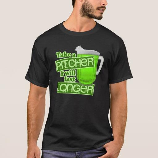 Take a Pitcher It will last Longer Basic Dark T-Shirt
