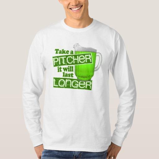 Take a Pitcher It will last Longer Men's Basic Long Sleeve T-Shirt