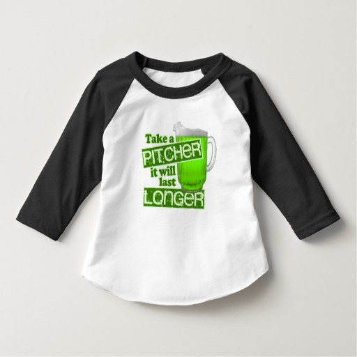 Take a Pitcher It will last Longer Toddler American Apparel 3/4 Sleeve Raglan T-Shirt