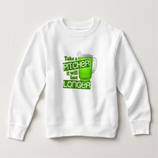 Take a Pitcher It will last Longer Toddler Fleece Sweatshirt