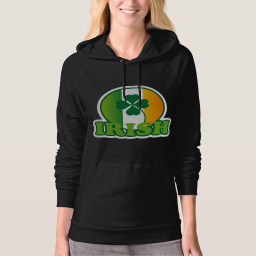 Circle Irish Flag American Apparel California Fleece Pullover Hoodie