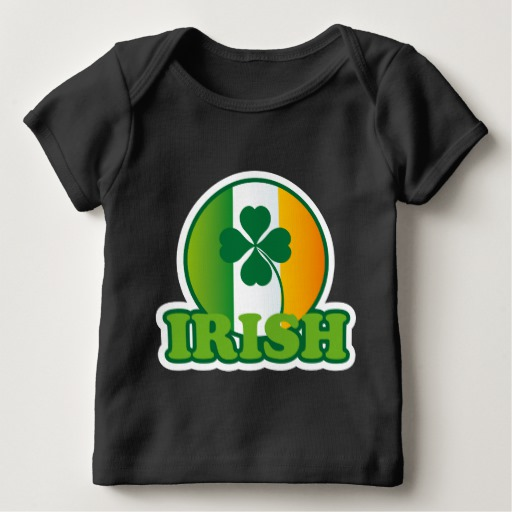 Circle Irish Flag Baby American Apparel Lap T-Shirt