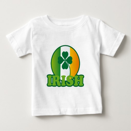 Circle Irish Flag Baby Fine Jersey T-Shirt