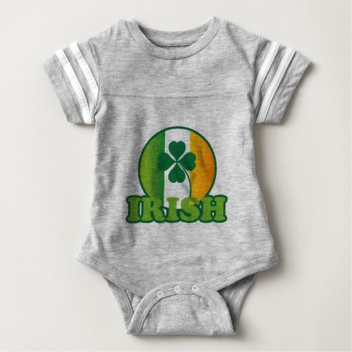 Circle Irish Flag Baby Football Bodysuit