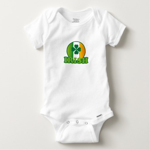 Circle Irish Flag Baby Gerber Cotton Onesie