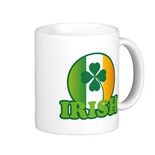 Circle Irish Flag Classic White Mug