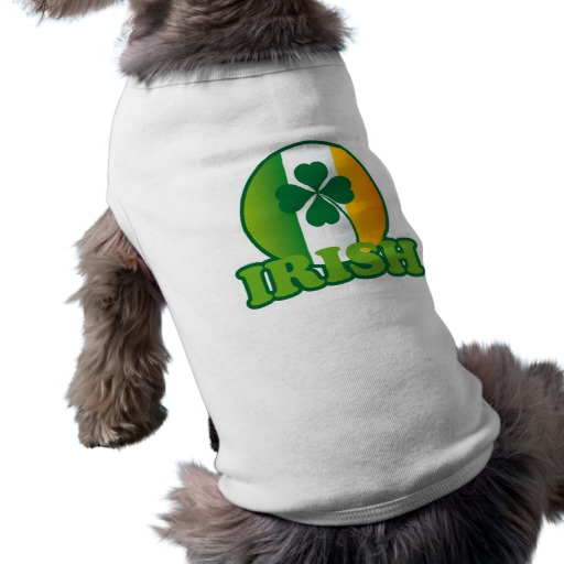 Circle Irish Flag Doggie Ribbed Tank Top
