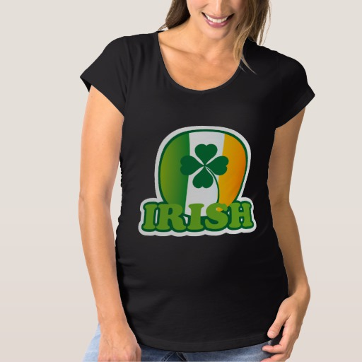 Circle Irish Flag Maternity T-Shirt