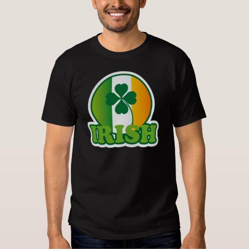 Circle Irish Flag Men's Basic Dark T-Shirt