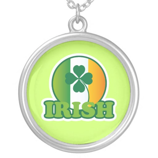 Circle Irish Flag Round Necklace
