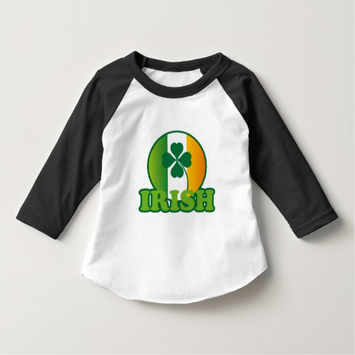 Circle Irish Flag Toddler American Apparel 3/4 Sleeve Raglan T-Shirt
