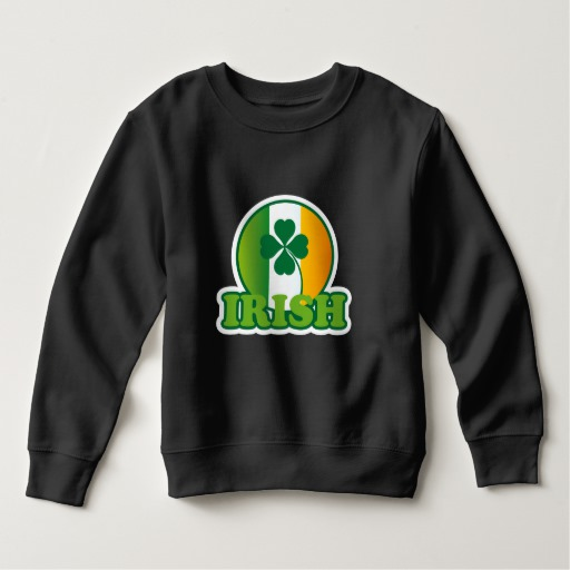 Circle Irish Flag Toddler Fleece Sweatshirt