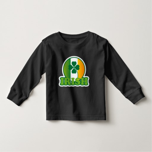 Circle Irish Flag Toddler Long Sleeve T-Shirt