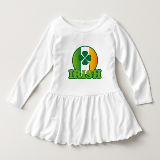 Circle Irish Flag Toddler Ruffle Dress
