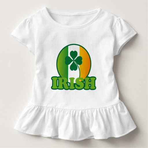 Circle Irish Flag Toddler Ruffle Tee