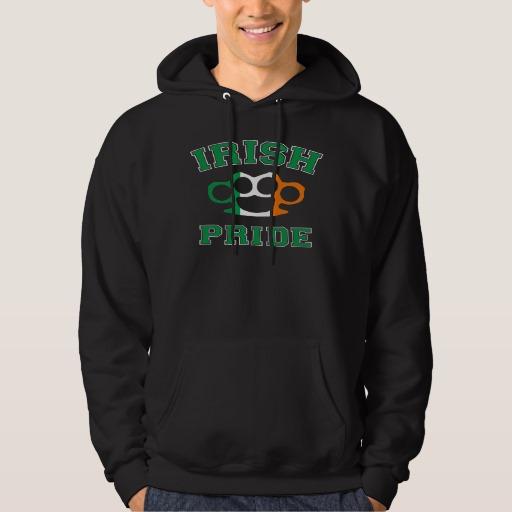 Irish Knuckle Pride Men's Basic Hooded Sweatshirt