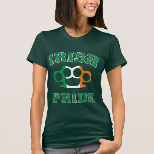 Irish Knuckle Pride Women's American Apparel Fine Jersey T-Shirt