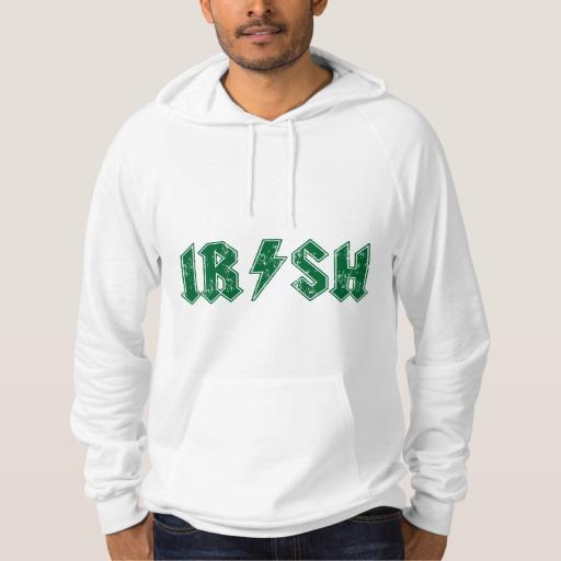 Irish Lightning Bolt American Apparel California Fleece Pullover Hoodie