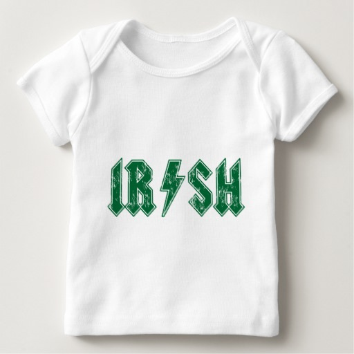 Irish Lightning Bolt Baby American Apparel Lap T-Shirt