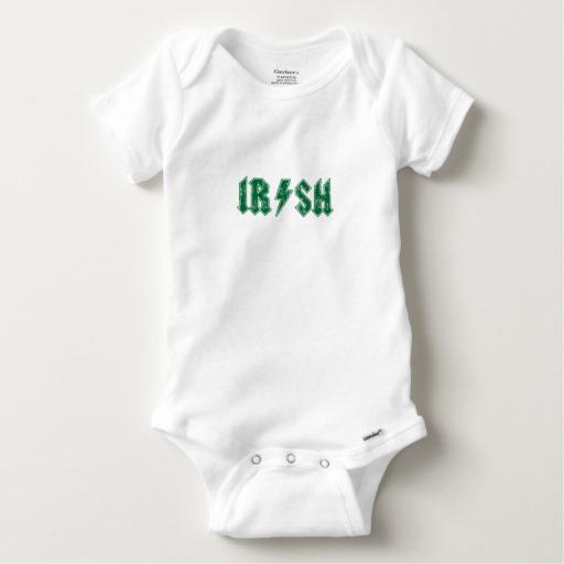 Irish Lightning Bolt Baby Gerber Cotton Onesie