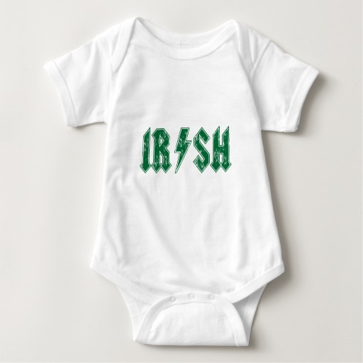 Irish Lightning Bolt Baby Jersey Bodysuit