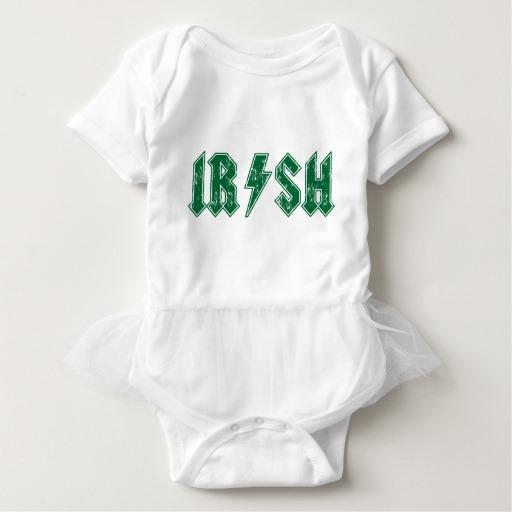 Irish Lightning Bolt Baby Tutu Bodysuit