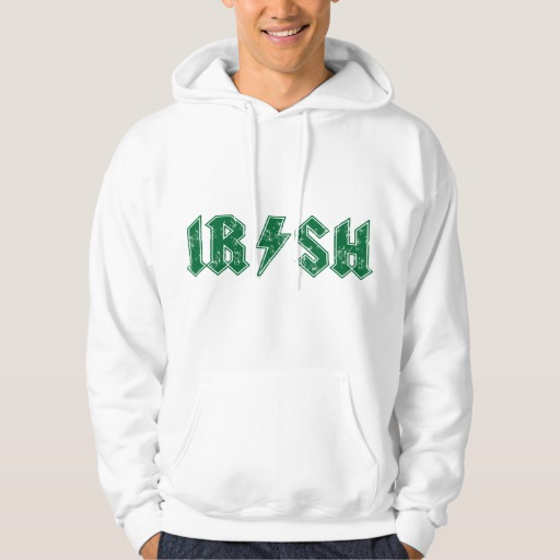 Irish Lightning Bolt Men's Basic Hooded Sweatshirt