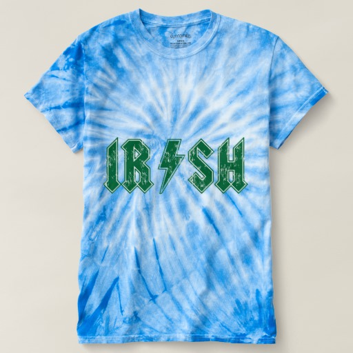 Irish Lightning Bolt Men's Cyclone Tie-Dye T-Shirt