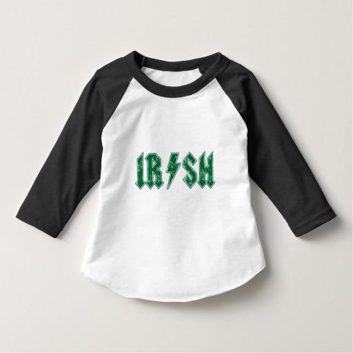 Irish Lightning Bolt Toddler American Apparel 3/4 Sleeve Raglan T-Shirt