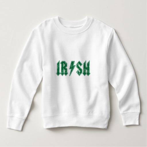Irish Lightning Bolt Toddler Fleece Sweatshirt