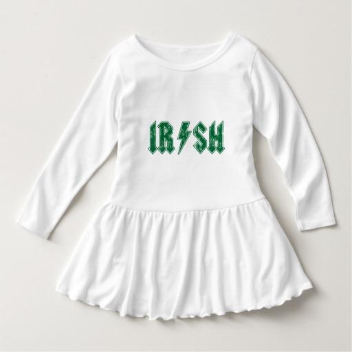 Irish Lightning Bolt Toddler Ruffle Dress