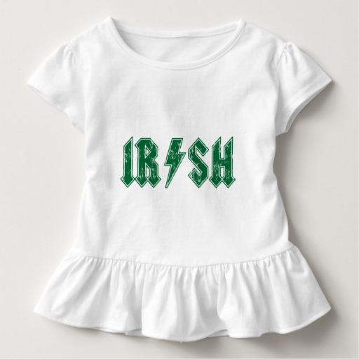 Irish Lightning Bolt Toddler Ruffle Tee