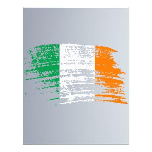 "Cool Irish flag design 8.5"" X 11"" Flyer"