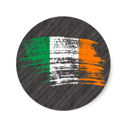 Cool Irish flag design Classic Round Sticker