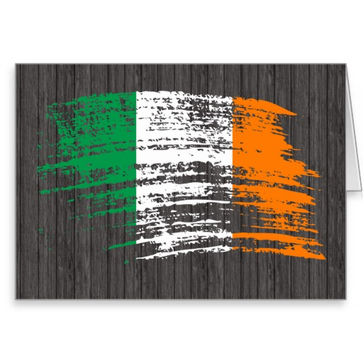 Cool Irish flag design Greeting Card