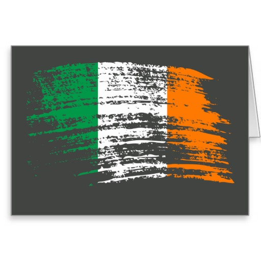 Cool Irish flag design Stationery Note Card