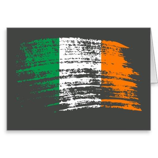 Cool Irish flag design Stationery Note Card