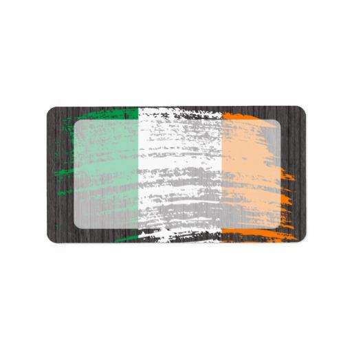 Graffiti Flag of Ireland Address Labels