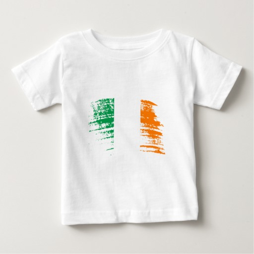 Graffiti Flag of Ireland Baby Fine Jersey T-Shirt